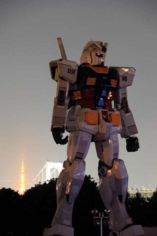 レインボーブリッジ・東京タワーとガンダム2