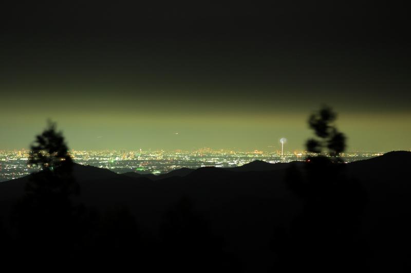 夜景と花火1