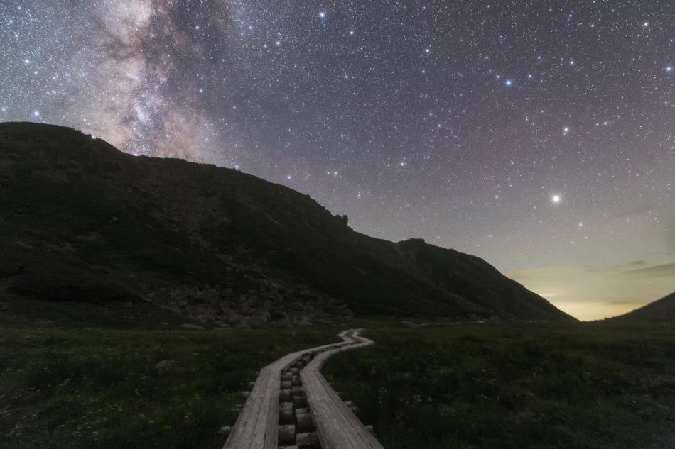 乗鞍岳畳平の星空