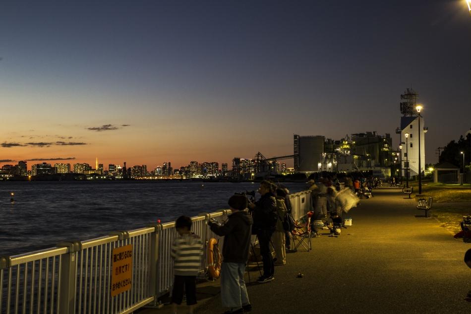 若洲海浜公園の夕暮れ