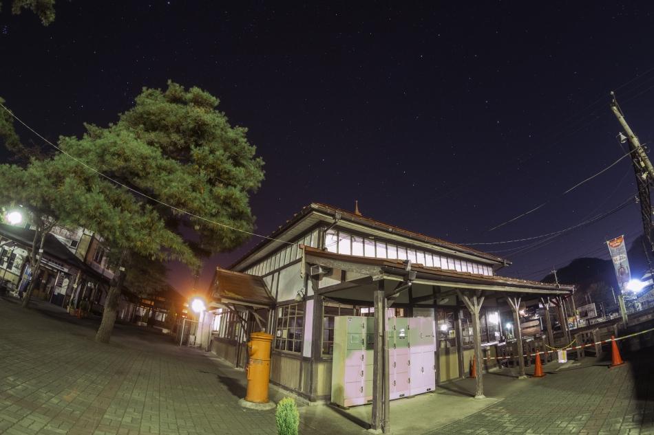 長瀞駅と北斗七星