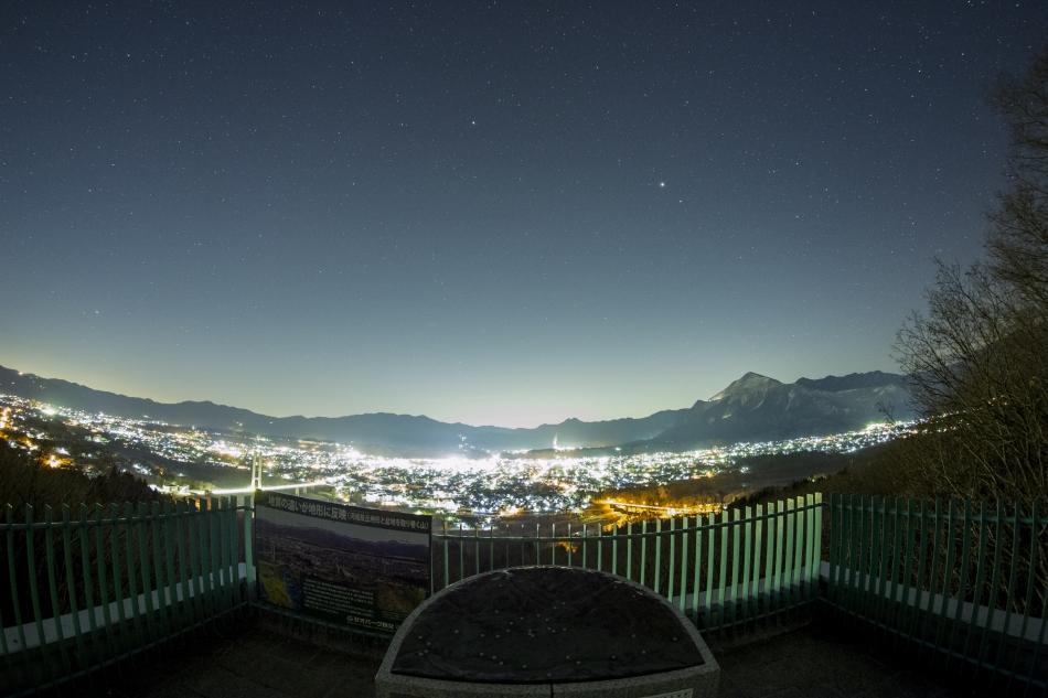 秩父市の夜景