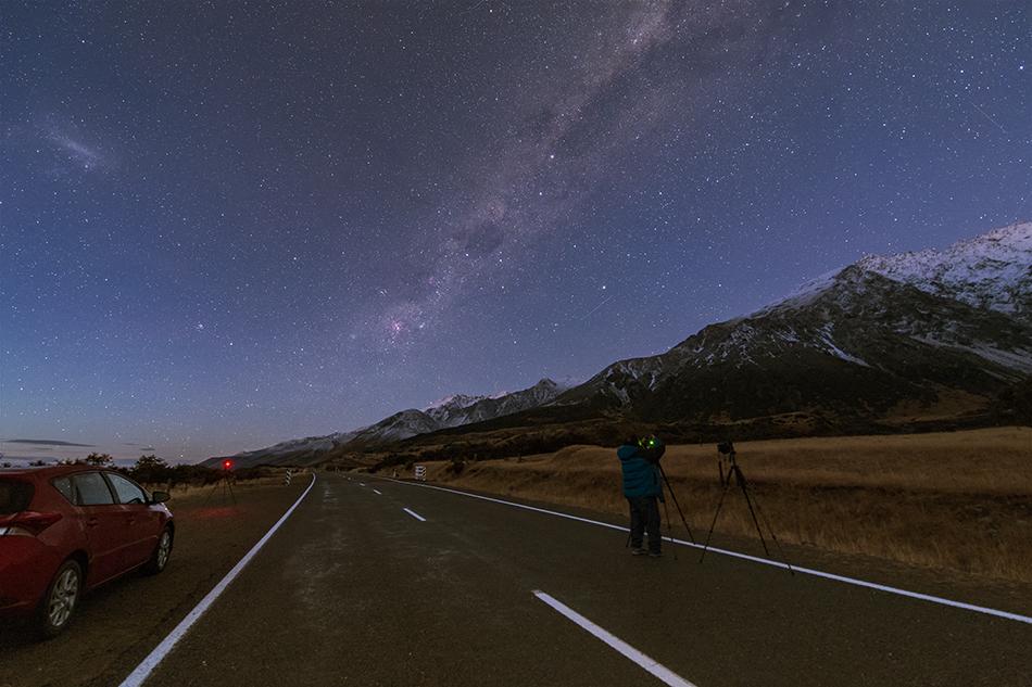 薄明の撮影・南十字星、エータカリーナ星雲、大マゼラン雲