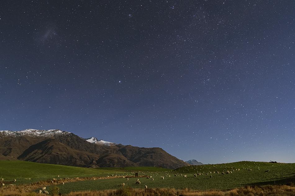 羊の群れと大マゼラン雲
