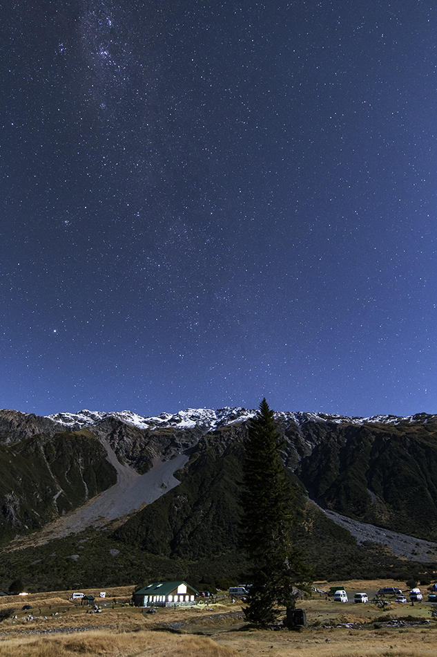フッカー渓谷入口の星空