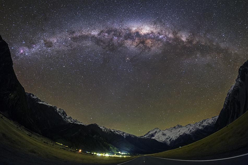 マウントクック銀河のアーチ