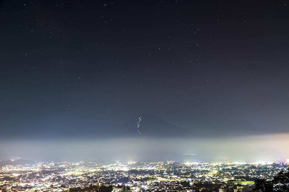 富士山とさそり座