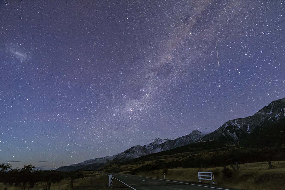 薄明の南十字星、エータカリーナ星雲、大マゼラン雲