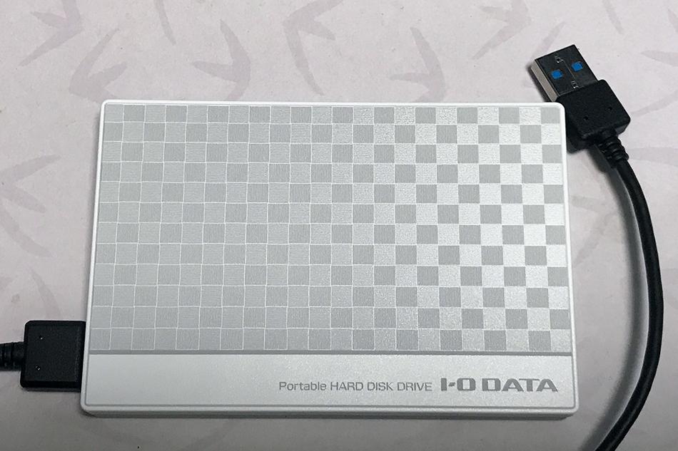 I-O DATA ポータブルハードディスク 1TB EC-PHU3W1