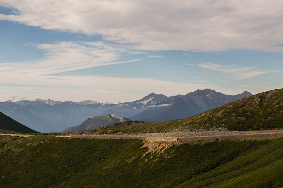 乗鞍岳畳平から見た風景