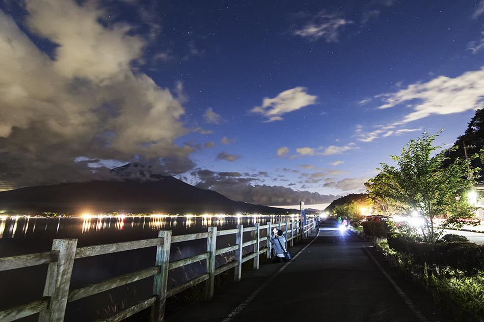 山中湖の長池親水公園駐車場