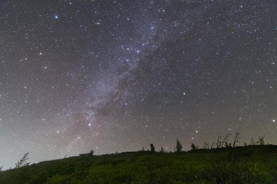 沈む白鳥座〜カシオペア座の天の川