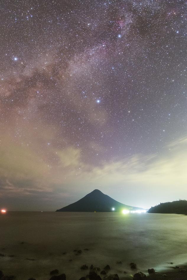 開聞岳と夏の大三角