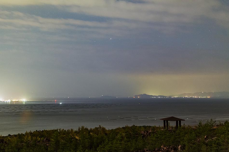 鹿児島湾に見えるカノープス