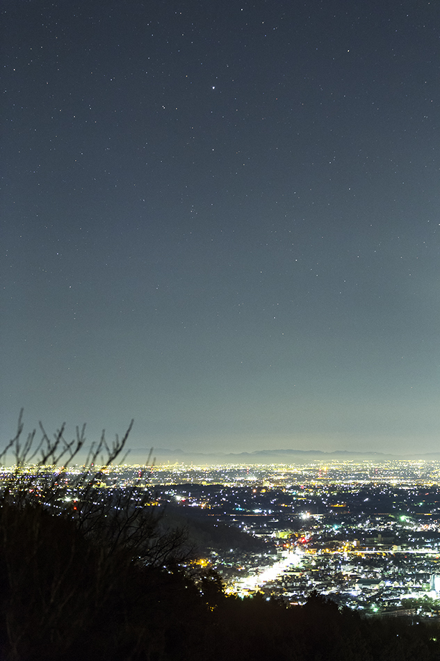 夜景と昇ること座