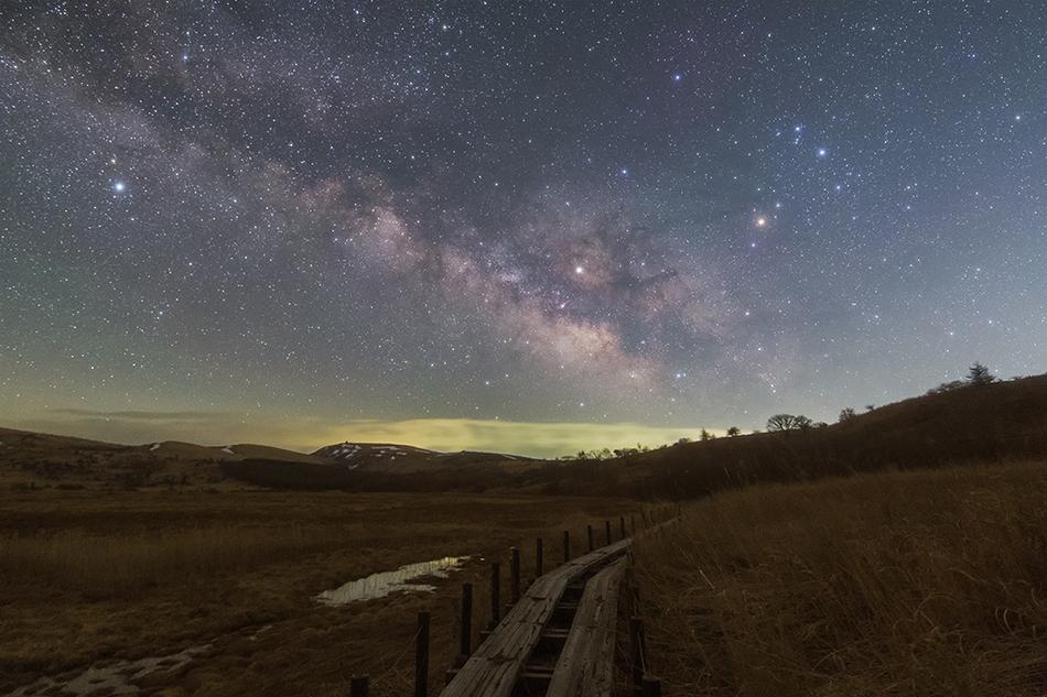 八島ヶ原湿原と夏の天の川