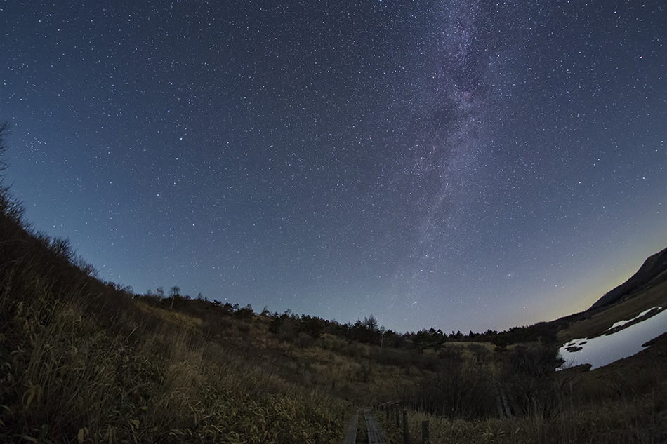 八島ヶ原湿原と北天の星空