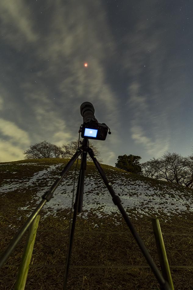皆既月食撮影風景