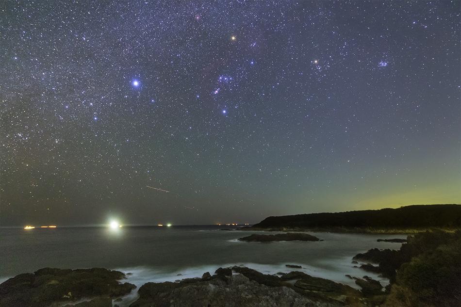 爪木崎からの冬の星座