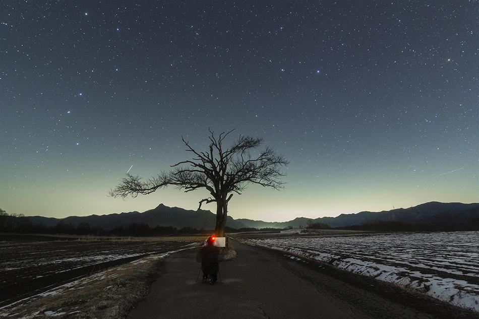 やまなしの木を撮るspitzchuさん