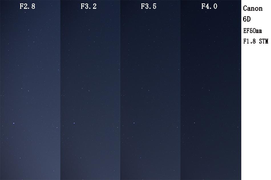 Canon EF50mm F1.8 STMによる星