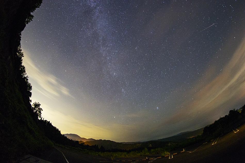 北天の空とペルセウス座流星群
