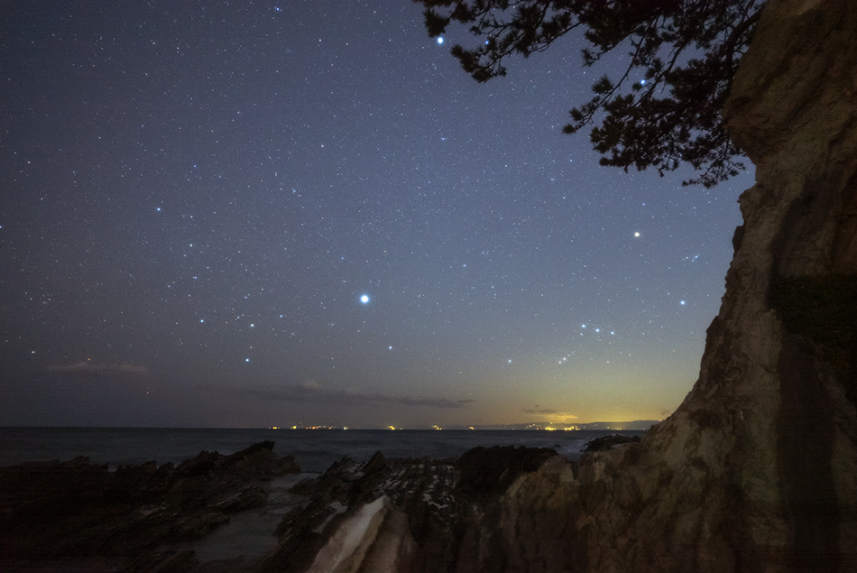 三浦半島 沈む冬の星座
