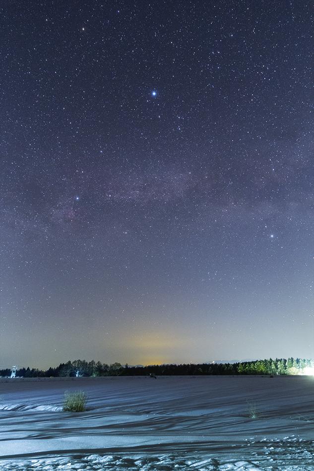 霊仙寺湖と夏の大三角