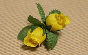 黄色いバラ 拡大図