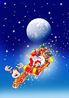 クリスマス電報 Moon Santa