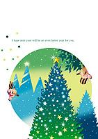 クリスマス電報 happy inn the wood