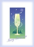クリスマス電報 Christmas champagne