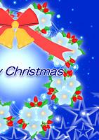 クリスマス電報 star wreathe b
