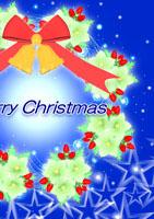 クリスマス電報 star wreathe g