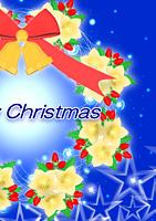 クリスマス電報 star wreathe y