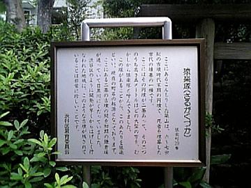 円墳の案内版