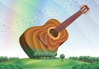 幸響楽(交響楽) クラッシックギター/作:田中こいち/祝電専門 お祝電報・結婚式電報「文亭:ふみてい」