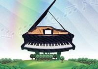 幸響楽(交響楽) ピアノ/作:田中こいち/祝電専門 お祝電報・結婚式電報「文亭:ふみてい」
