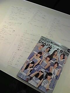AKB48 じゃんけん大会公式ガイドブック2012」