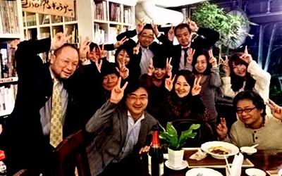 畑中葉子さんを囲む会でうさちゃんピース