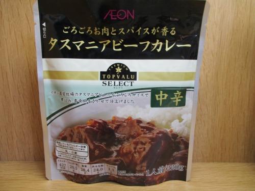 イオン TOPVALU SELECT ごろごろお肉とスパイスが香る タスマニアビーフカレー 中辛