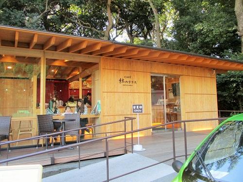 明治神宮の門前にあるカフェ「杜のテラス」