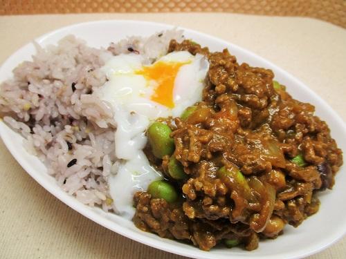 十五穀米挽肉カレー