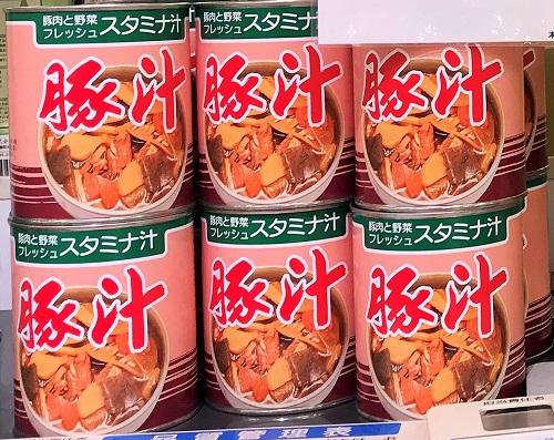 豚汁 商品規格:2号缶/12入 734円(税込)