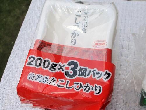 ユーラス 新潟県産こしひかり 200g×3パックで301円(税込)/ロピアで購入。