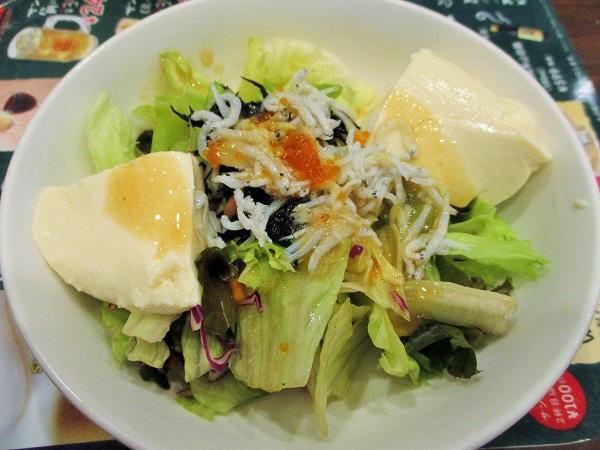 よせ豆腐としらすの和風サラダ