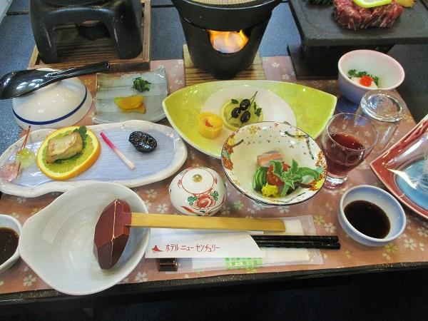 2020年1月4日(土)富士河口湖温泉ホテル ニューセンチュリーにて夕飯
