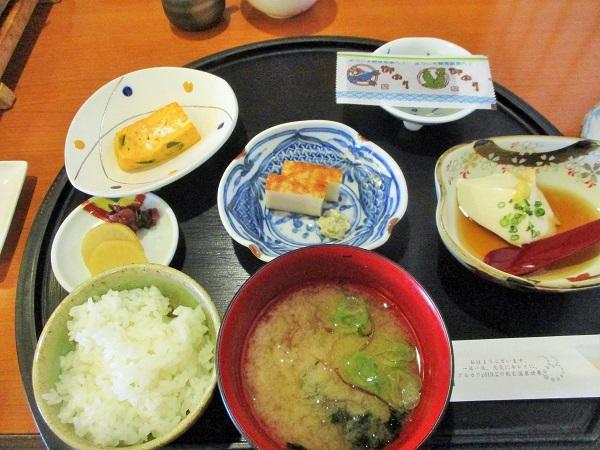 伊豆・下田の観音温泉(静岡県下田市横川1092-1)にて朝食
