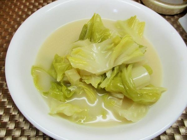 春キャベツのちゃんぽん野菜スープ