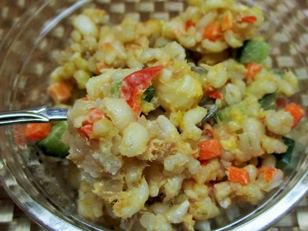 ロピア 玄米ともち麦のカラフルサラダ 214円(税込)